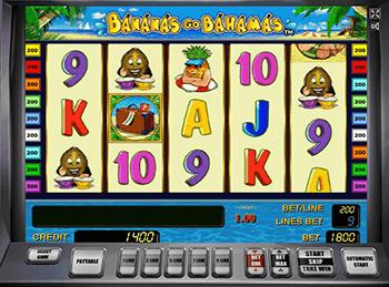 Интерфейс слота Bananas Go Bahamas