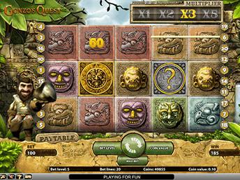 Интерфейс автомата Gonzo's Quest