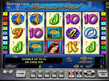 Интерфейс игрового автомата Mermaid's Pearl