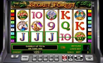 Интерфейс Secret Forest