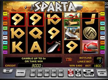 Sparta - интерфейс видео-слота